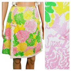 """Rare Vintage 1960s LILLY PULITZER """"The Lilly"""" combo Shorts/Skirt"""
