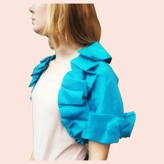 NWT DEADSTOCK $875 Vintage DIANE FREIS Turquoise Bolero Jacket/Shrug