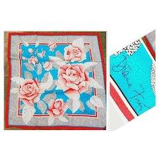 Deadstock $390 Vintage Signed DIANE FREIS Silk Scarf/Wrap