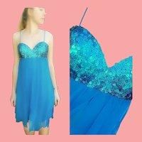 "DEADSTOCK $1950 DIANE FREIS Vintage 1990s does 1960s Silk ""Mod"" Mini Dress"