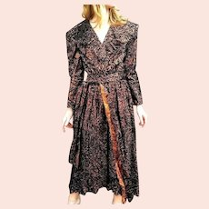 DEADSTOCK $2800 Vintage 1980s DIANE FREIS Metallic Copper boho Dress