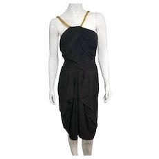 Vintage Z CAVARICCI 1980s Little Black Cocktail Dress