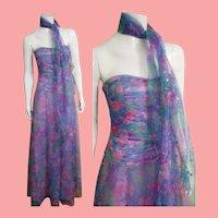 """DEADSTOCK $4500 DIANE FREIS Vintage 1990s """"Glitter"""" Strapless Dress"""