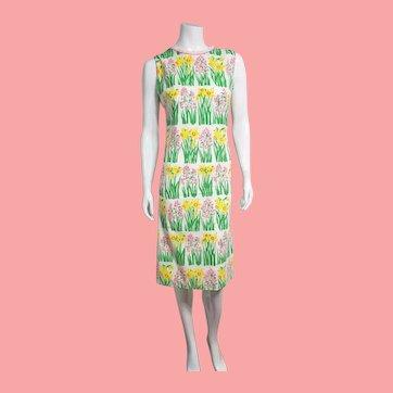 Vintage 1960s The VESTED GENTRESS Floral Cotton Shift Dress