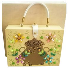 "UNUSED NOS Vintage Enid Collins of Texas ""Pot O' Gold"" rare Box Bag/Purse"