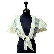 """Vintage 1930s ART DECO Cotton Gauze """"Sailor"""" Crop Top/Jacket"""
