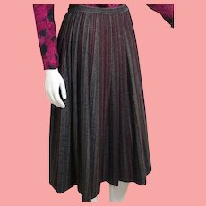 Vintage 1980s Iconic preppy schoolgirl EMANUEL UNGARO Wool Plaid Skirt