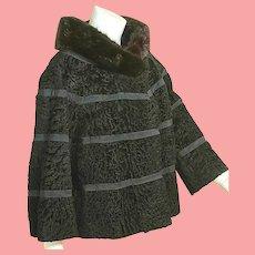 """Vintage """"mad men mod"""" 1960s Faux Fur & REAL MINK Jacket/Coat"""