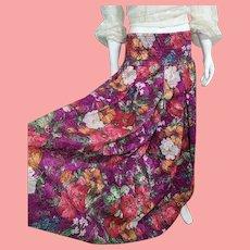 NOS New $495 DIANE FREIS 1980s boho gypsy Lace maxi Skirt