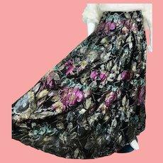 NOS New $450 DIANE FREIS 1980s boho gypsy Metallic maxi Skirt