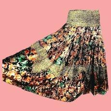 NOS New $450 DIANE FREIS 1980s boho gypsy Lurex Skirt