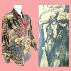 Edwardian-inspired Vintage 1980s LINDA ALLARD for Ellen Tracy Silk Blouse/Top