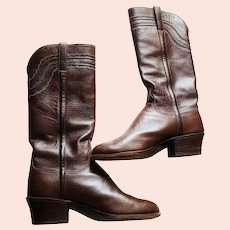 RARE $900 LUCCHESE Vintage 1970s Womens Western/Cowboy Riding Boots