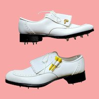 UNUSED in Box Vintage 1980s RAWLINGS Spiked Womens Golf Shoes