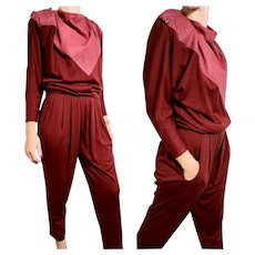 AVANT GARDE Vintage 1980s La Squadra Monte Carlo ITALY Harem Pants & Leather Top