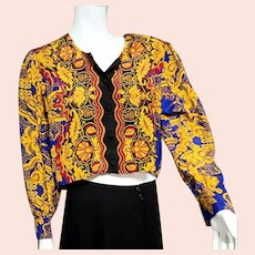 DEADSTOCK  $400 DIANE FREIS Vintage boho Georgette Crop Top/Blouse - Belonging to designer herself!