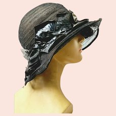 Authentic EDWARDIAN 1900s Vintage/Antique HORSEHAIR Ladies Hat
