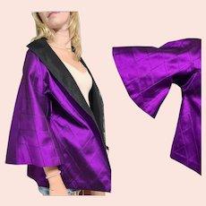 Vintage 1980s THAIL SILK Made in Thailand Avant Garde oversized Jacket/Coat