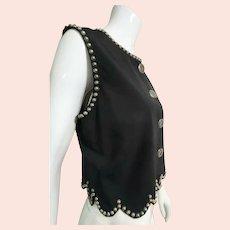 Vintage 1990s DOUBLE D RANCH Wear grommet studded Vest Top