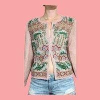 NWT Vintage DIANE FREIS $1500 India Silk Beaded Jacket