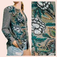 NWT NOS Vintage DIANE FREIS $1500 Beaded Embroidered Jacket