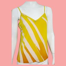 EXTREMELY RARE Vintage NWT $500 Diane Freis painted-on fabric Tank Top