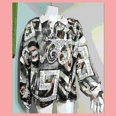 "Vintage 1990s V.C. TORIAS ""Streetwear"" Wearable Art hand painted Sweat Shirt/Top"