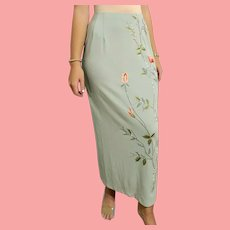 DEADSTOCK  $450 DIANE FREIS vintage 1990s Beaded Spandex Skirt