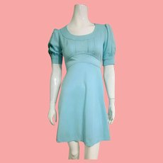 "ICONIC Vintage 1960s MOD ""Babydoll"" Empire Mini Dress"