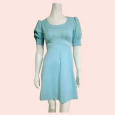 "ICONIC Vintage 1960s MOD ""Babydoll"" Empire Mini Dress"