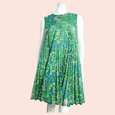 "ICONIC Vintage 1960s MOD ""Babydoll Tent"" Paisley Empire Mini Dress"