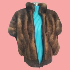 Vintage 1980s OPOSSUM FUR/Leather Vest & Coat COMBO!