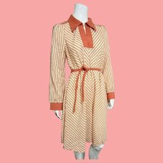 Vintage 1970s MOD hippie disco JERELL of Texas Dress