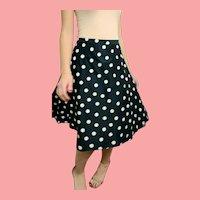 $800 Vintage CAROLINA HERRERA $600 Preppy Schoolgirl polka dot Skirt