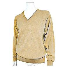 UNISEX Vintage 1960s SAKS 5th AVE Cashmere V neck Sweater Top