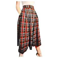 """ULTIMATE Vintage 1950s Preppy Wool Pleated """"Schoolgirl"""" Skirt"""