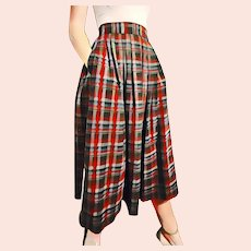 "ULTIMATE Vintage 1950s Preppy Wool Pleated ""Schoolgirl"" Skirt"