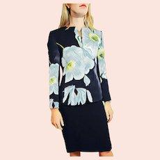 """Vintage 1990s LINDA ALLARD/Ellen Tracy """"Hibiscus"""" Skirt Suit"""