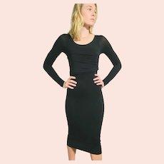 Vintage GUCCI 1990s Body Con Spandex LBD Little Black Dress