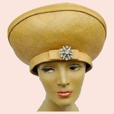 """Vintage JACK McCONNELL 1960s Gold Mod """"Audrey"""" Hat"""