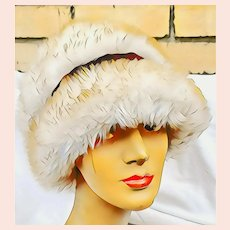 Vintage 1960s Dyed Tuscan LAMB Fur Cloche Hat - ITALY