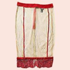 Vintage $1200 LA PERLA Silk Lace Mesh 1/2 Slip Lingerie