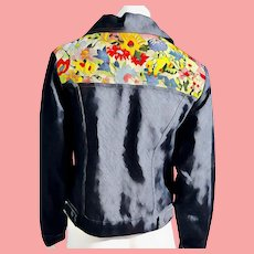 MINT condition 1960s vintage EMBROIDERED Denim Jean Jacket