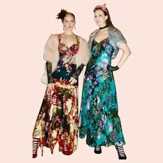 DEADSTOCK  Vintage 1990s DIANE FREIS boho gypsy Silk India Dress