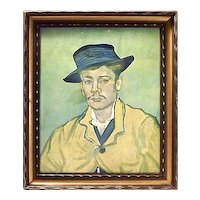 Vintage Vincent Van Gogh Self Portrait Engraving