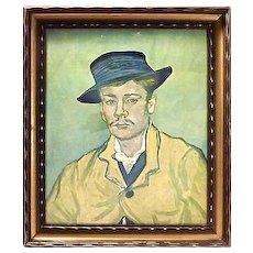 Vintage Vincent Van Gogh Self Portrait Engraving