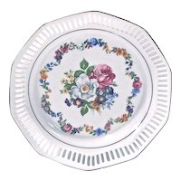 German Porcelain Floral Plate