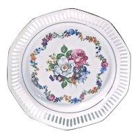 German Porcelain Floral Plate