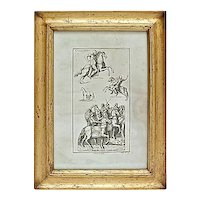 Antique Roman Cavaliers Engraving