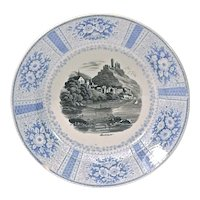 Vintage English Lake Village Scene Transferware Plate